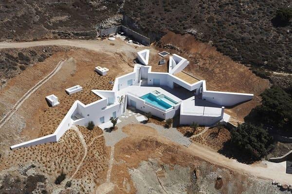 Casas mais extraordinárias do mundo: Casa Ktima - vista aérea
