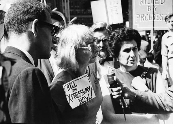 Jane Jacobs: manifestação em Nova York
