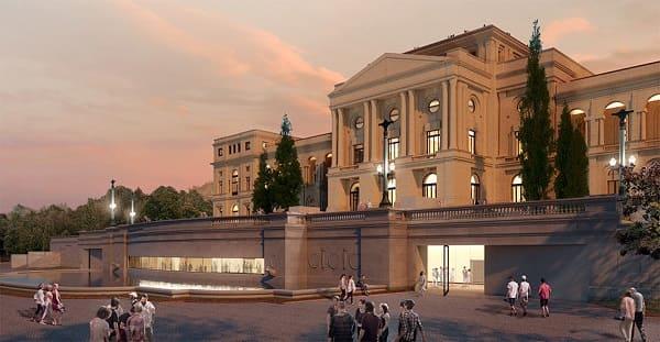 Parque da Independência: projeto 3D da nova fachada (foto: escritório H+F Arquitetos)