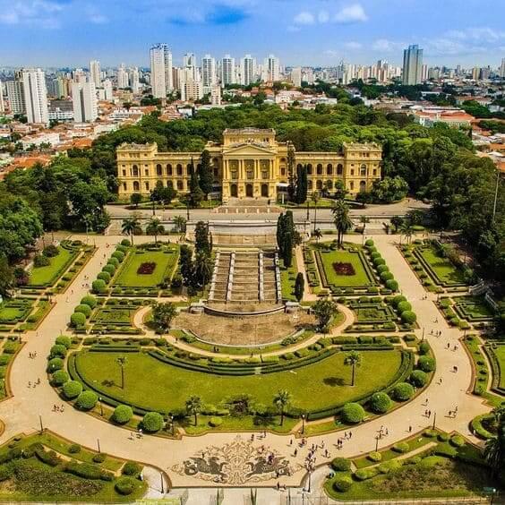 Parque da Independência: vista aérea