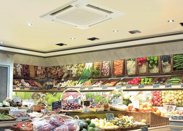Tipos de ar condicionado: Split Cassete em supermercado