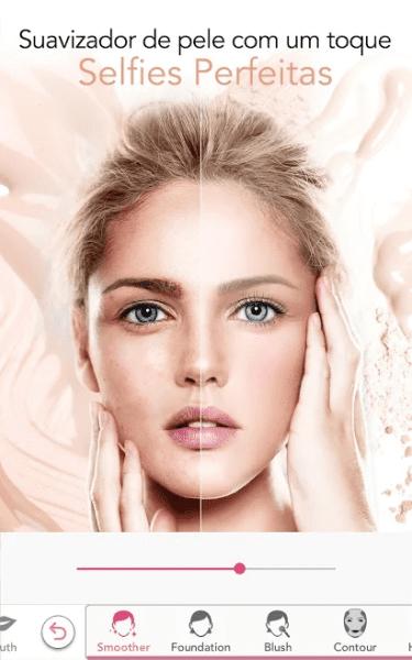 Aplicativos de fotos: YouCam Makeup