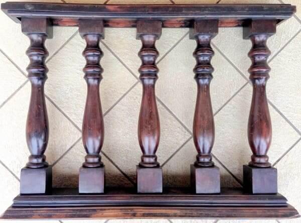 Balaústre de madeira (fonte: estilo antigo leilões)