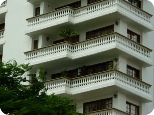 Balaústre em varanda de prédio