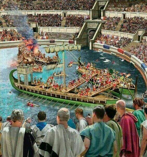 Coliseu de Roma: simulação de como seriam as batalhas navais na Arena
