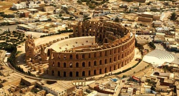 Coliseu de Roma: vista aérea