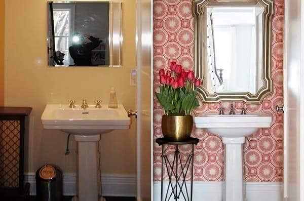 Reforma de casa: antes x depois Banheiro (foto: Chango & CO)