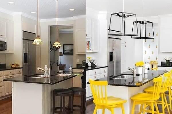 Reforma de casa: antes x depois Cozinha (foto: Chango & CO)