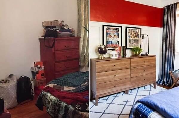 Reforma de Casa: antes x depois Quarto (projeto: Emily Henderson)
