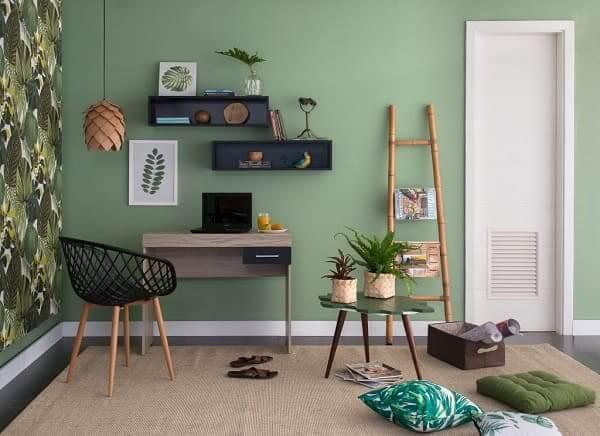 Urban Jungle: decoração com quadros de folha (foto: Pinterest)