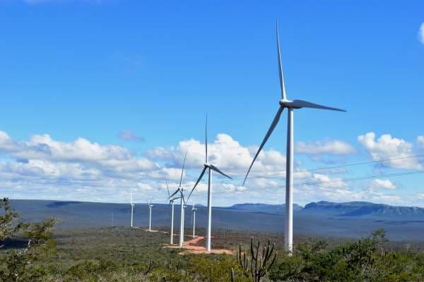 Como funciona a energia eólica no Brasil: parque eólico na Bahia