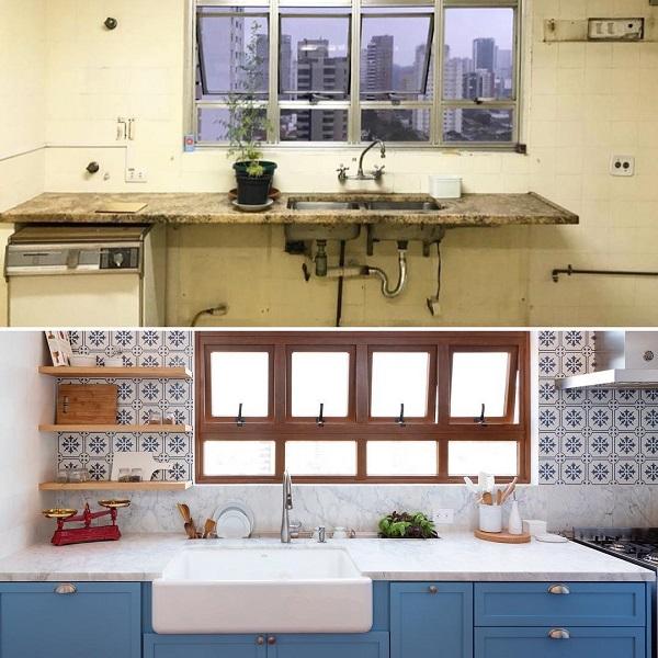 Doma Arquitetura: Cozinha Monet (antes e depois)