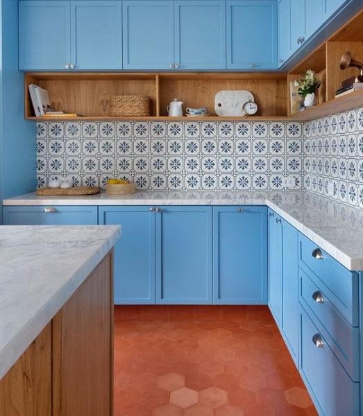 Doma Arquitetura: Cozinha Monet (ladrilho hidráulico)