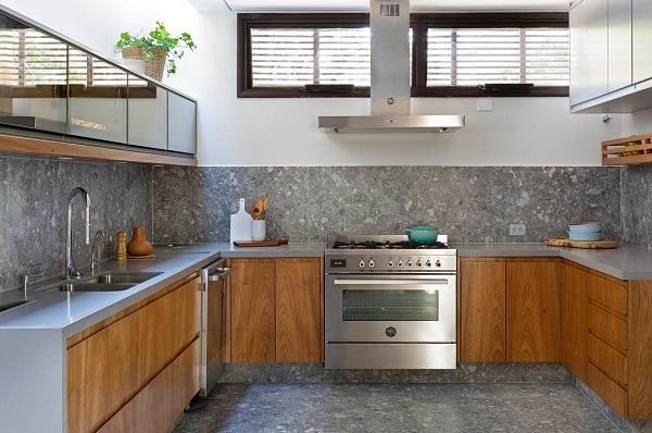 Doma Arquitetura: cozinha cinza