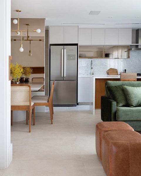 Doma Arquitetura: cozinha integrada com sala de estar
