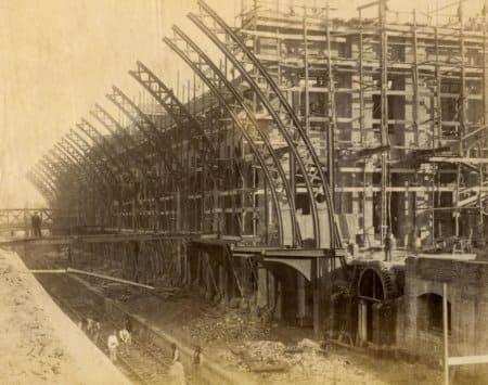 Estação da Luz: construção da atual estação da Luz em1899 (foto: estacoesferroviarias.com.br)