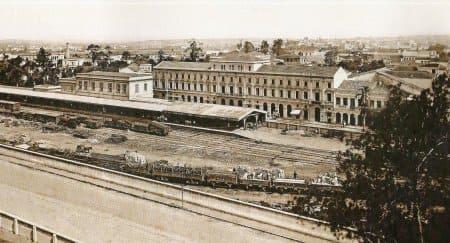 Segunda Estação da Luz, por volta de 1890 (foto: estacoesferroviarias.com.br)