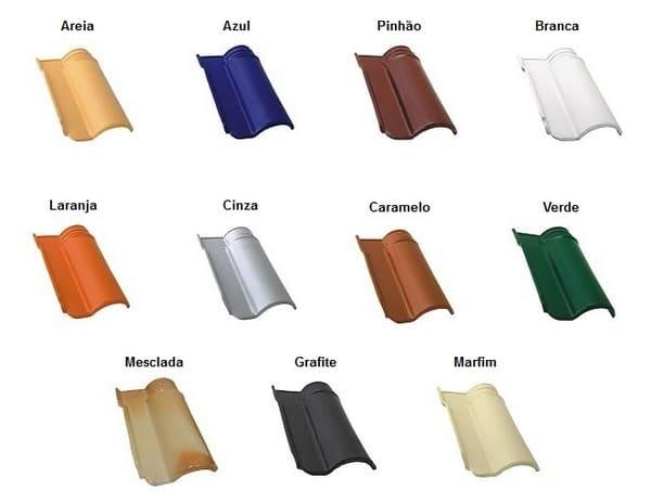Telha esmaltada de diversas cores (foto: portal construção fácil)