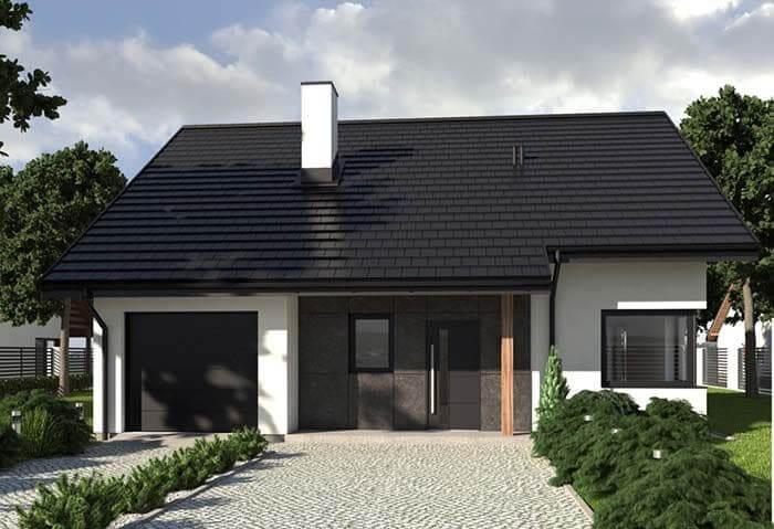 Telha esmaltada: permite telhado com cores diferenciadas, como preto