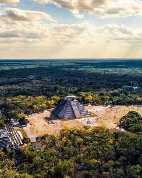 As sete maravilhas do mundo: Chichén Itzá - vista aérea