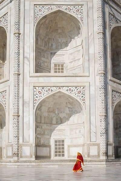 As sete maravilhas do mundo: Taj Mahal - detalhes das arcadas