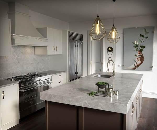 21. Dekton de aspecto natural em bancada e revestimento de cozinha (foto: Architonic)