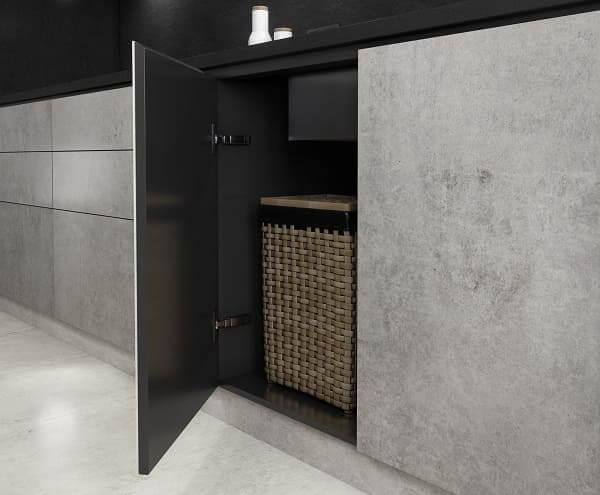 Dekton: exemplo de gaveteiro na bancada de cozinha