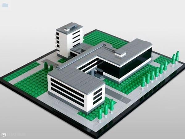 LEGO Arquitetura: Bauhaus (foto: Archdaily)