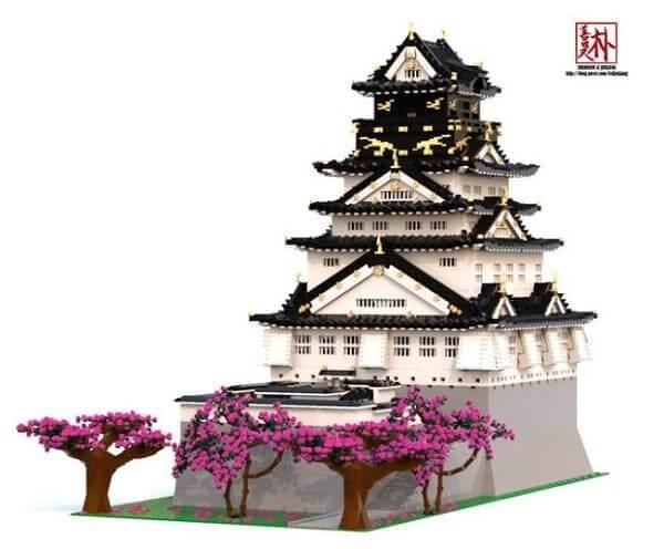 LEGO Arquitetura: Donjon do Castelo de Osaka (foto: Archdaily)