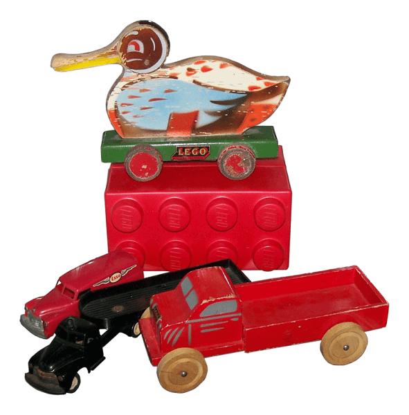 LEGO Arquitetura: brinquedos de madeira e primeira peça plástica (foto: origemdascoisas.com)