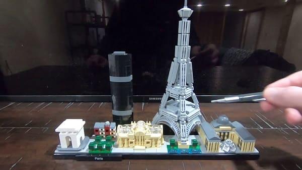 LEGO Arquitetura Paris montado (foto: Youtube)
