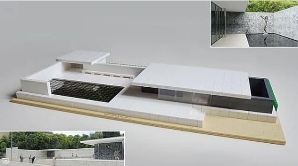 LEGO Arquitetura: Pavilhão de Barcelona (foto: Archidaily)