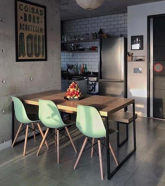 Neo Mint: cozinha moderna com cadeira Neo Mint (foto: Pinterest)