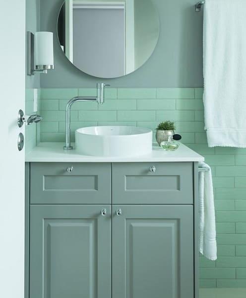 Neo Mint em lavabo vai encantar as visitas (projeto: Studio Gabriel Bordin)