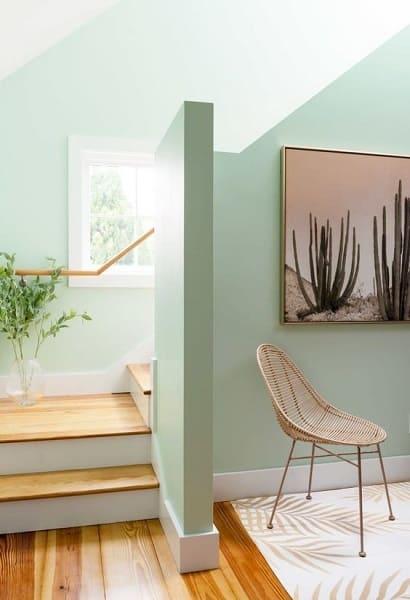 Neo Mint: quadros com temática de natureza completam a decoração (foto: Pinterest)
