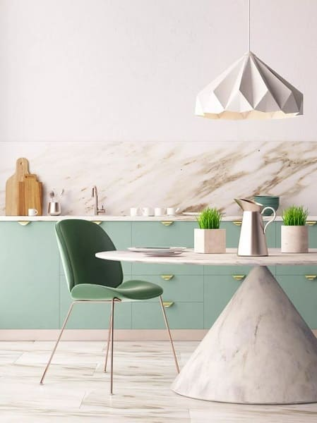 Neo Mint com mármore (foto: Pinterest)