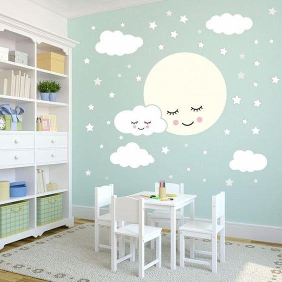 Neo Mint em quarto de bebê (foto: Pinterest)