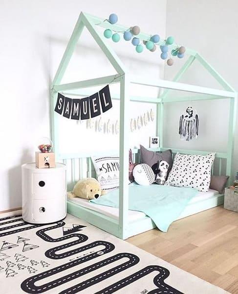 Neo Mint fica perfeito em quarto infantil (foto: Pinterest)