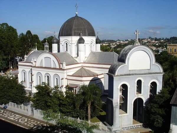 Arquitetura Bizantina em SP: matriz de São Josafat em Prudentópolis, interior de São Paulo