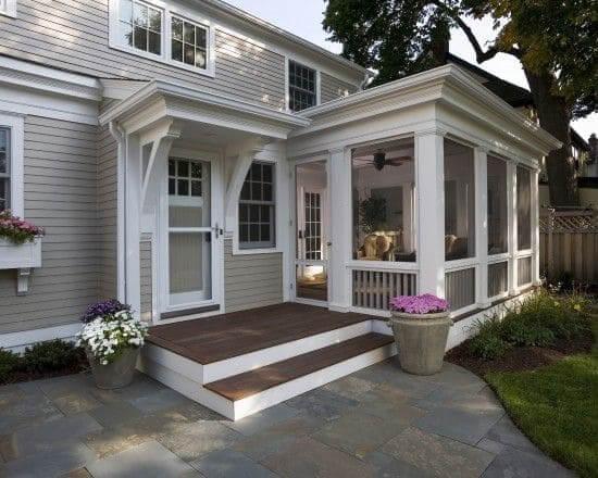 Casa estilo americano escada com varanda (foto: Pinterest)