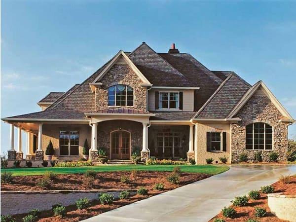 Casa estilo americano: fachada de pedra (foto: construidoDECOR)