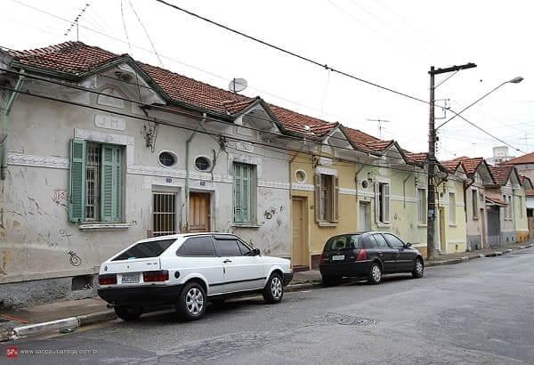Casas Antigas: vila construída na década de 30 (foto: São Paulo Antiga)