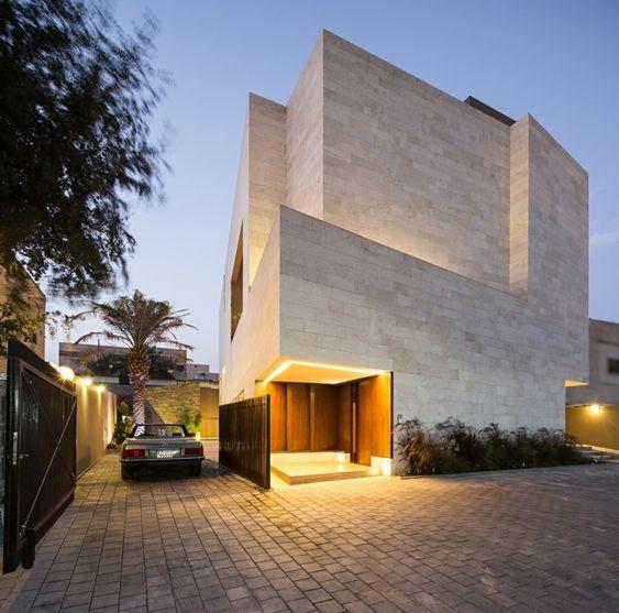 Concreto armado: casa com fachada assimétrica (foto: Nelson Garrido)