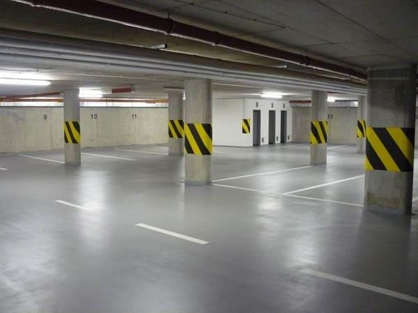 Concreto armado: estacionamento com grande vão