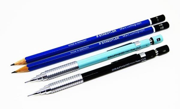 Desenho arquitetônico: lapiseiras ou lápis