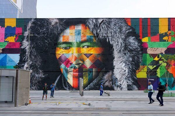 Kobra grafite: Etnias – Todos Somos Um (Rio de Janeiro)