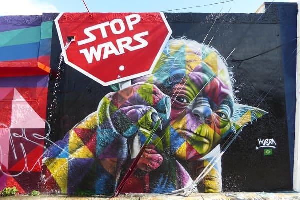 1. Kobra grafite: Stop Wars – Wynwood, Miami, Flórida, EUA