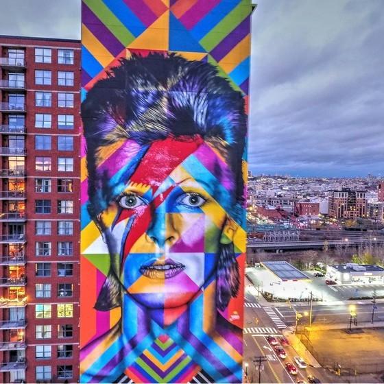 Kobra grafite: mural David Bowie (Nova Jersey)