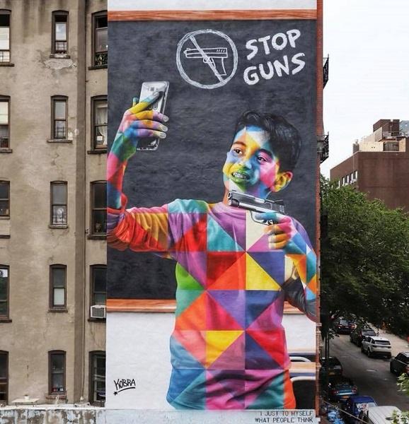 Kobra grafite: Stop Guns - Nova York