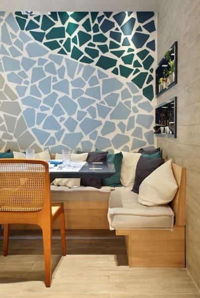 14. Mosaico de três cores em sala de estar (foto: Pinterest)